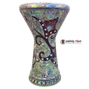 "The Magic Garden NG 2.0 Sombaty Gawharet El Fan 18.5"" Darbuka With Real Green Mother of Pearl"