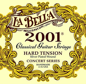 La Bella 2001 Concert Series, Classical Guitar Strings- Hard Tension
