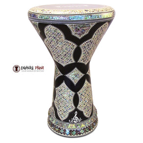 "The Black Star NG 2.0 Sombaty Gawharet El Fan 18.5"" Darbuka With Real Green Mother of Pearl"