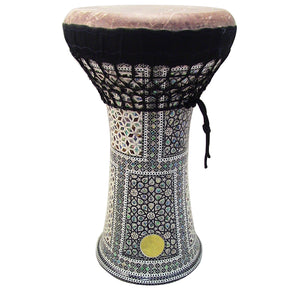Gawharet El Fan - MOP Clay Darbuka Doumbek With Fish Skin Drum Head (F-104)