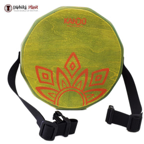 KTÄK-The First Handcrafted, Hand Drum,Two-Sound  Portable Cajon - (Green Acid)