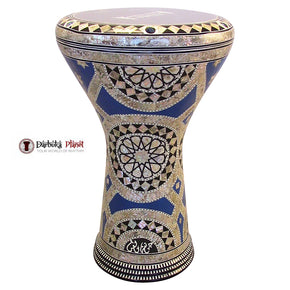 "The Blue Sky  Gawharet El Fan 17"" Mother of Pearl Darbuka"