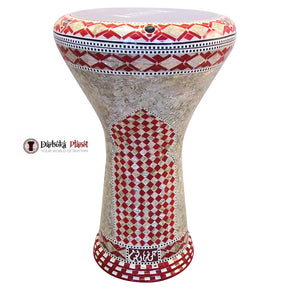 "The Red Wall Gawharet El Fan 17"" Mother of Pearl Darbuka"