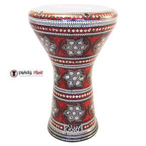 "The Red Devil Gawharet El Fan 17"" Mother of Pearl Darbuka"