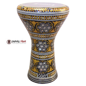 "The Yellow Devil Gawharet El Fan 17"" Mother of Pearl Darbuka"
