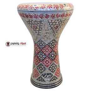 "The Red Wind Gawharet El Fan 17"" Mother of Pearl Darbuka"