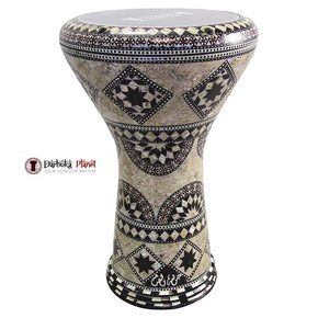 "The Mebsuta Gawharet El Fan 17"" Mother of Pearl Darbuka"