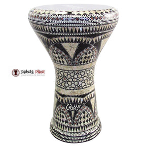 "The Fortress Gawharet El Fan 17"" Mother of Pearl Darbuka"