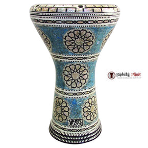 "The Blue Lotus Gawharet El Fan 17"" Mother of Pearl Darbuka"