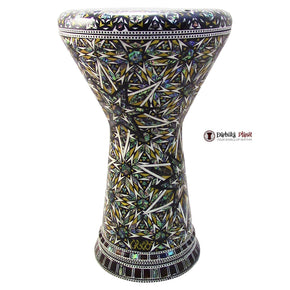"The Asteroid  NG 2.0 Sombaty Gawharet El Fan & ZAZA Percussion Joint Venture 18.5"" Darbuka With Real Green Mother of Pearl"