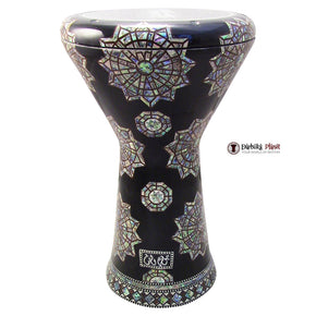 "The Black Eye NG 2.0 Sombaty Gawharet El Fan 18.5"" Darbuka With Real Green Mother of Pearl"