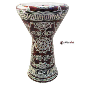 "The Emerald Spider NG 2.0 Sombaty Gawharet El Fan 18.5"" Darbuka With Real Green Mother of Pearl - Blemish"