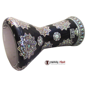 "The Black Eye NG 2.0 Sombaty Gawharet El Fan 18.5"" Darbuka With Real Green Mother of Pearl + Remo 9'' Black Smoke Drum Head"