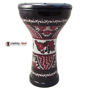 ZAZA Percussion The 17'' Empire Engraved Egyptian Style Darbuka Doumbek-3900-1
