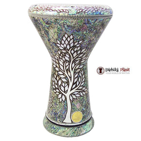 "The White Forest NG 2.0 Sombaty Gawharet El Fan 18.5"" Darbuka With Real Blue Mother of Pearl"