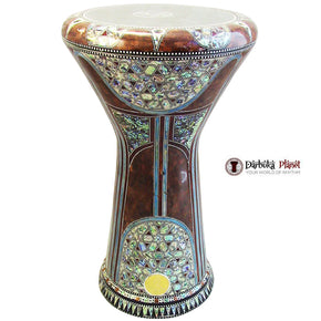 The 21'' Queen Sombaty XL Gawharet El Fan Darbuka With Real Blue Mother of Pearl