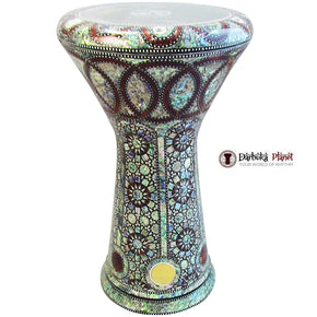 The 21'' King Sombaty XL Gawharet El Fan Darbuka With Real Blue Mother of Pearl