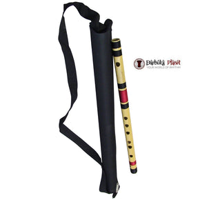 Zaza Percussion- Professional  Scale D middle 17'' Inches Polished Bamboo Bansuri Flute (Indian Flute)  With Carry Bag