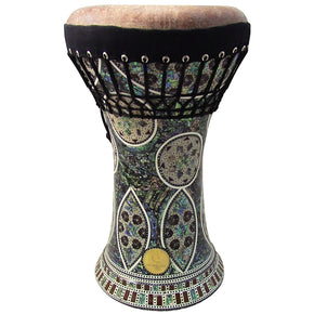 Gawharet El Fan - MOP Clay Darbuka Doumbek With Fish Skin Drum Head (F-100)
