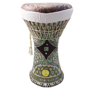 Gawharet El Fan - MOP Clay Darbuka Doumbek With Fish Skin Drum Head (F-101)