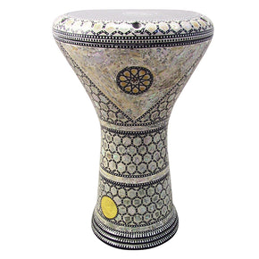 "The Dancing Lotus  Gawharet El Fan 17"" Mother of Pearl Darbuka"