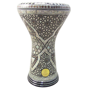 The 17'' Darius Mother of Pearl Classic Darbuka Gawharet El Fan Darbuka Doumbek