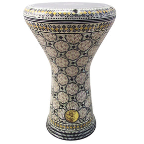 The 17'' Orange Circle Gawharet El FanClassic Mother of Pearl Darbuka Doumbek