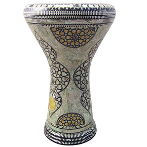 The 17'' Yellow Wisdom Gawharet El Fan Darbuka Doumbek - BLEMISH