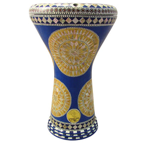 The 17'' The Golden Sun Gawharet El Fan Darbuka Doumbek
