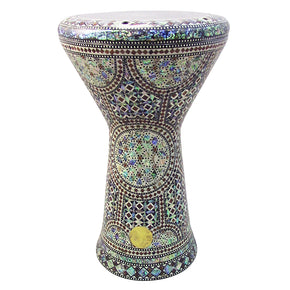 "The Khawy NG 2.0 Sombaty Gawharet El Fan 18.5"" Darbuka With Real Green Mother of Pearl"