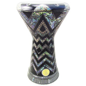 "The Khyan NG 2.0 Sombaty Gawharet El Fan 18.5"" Darbuka With Real Green Mother of Pearl"