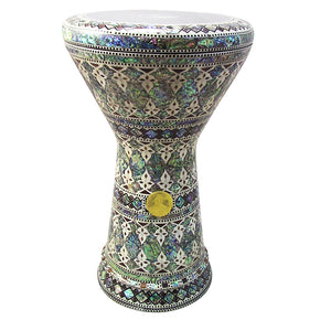 "The Takos NG 2.0 Sombaty Gawharet El Fan 18.5"" Darbuka With Real Green Mother of Pearl"