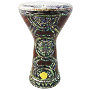 "The Anhotep NG 2.0 Sombaty Gawharet El Fan 18.5"" Darbuka With Real Green Mother of Pearl"
