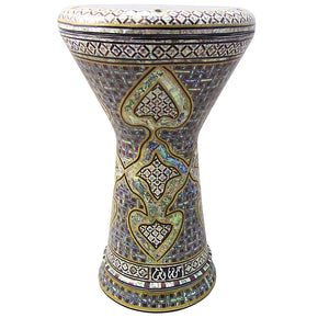 "The Zoser NG 2.0 Sombaty Gawharet El Fan 18.5"" Darbuka With Real Green Mother of Pearl"