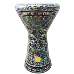 "The Tuya NG 2.0 Sombaty Gawharet El Fan 18.5"" Darbuka With Real Green Mother of Pearl"