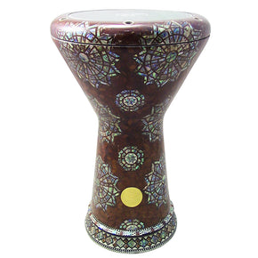 "The Siatum NG 2.0 Sombaty Gawharet El Fan 18.5"" Darbuka With Real Green Mother of Pearl"