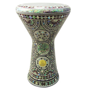"The Raneb NG 2.0 Sombaty Gawharet El Fan 18.5"" Darbuka With Real Green Mother of Pearl"