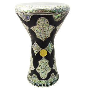 "The Black Shield NG 2.0 Sombaty Gawharet El Fan 18.5"" Darbuka With Real Green Mother of Pearl"
