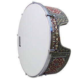 The 16'' Gawharet El Fan Professional Mother Of Pearl Bandir Dof With advance Tuning Lugs / Daf (DOFS1)