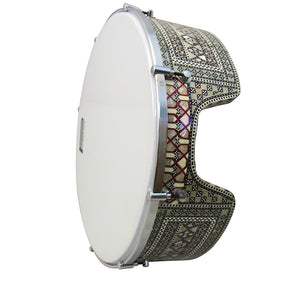 The 16'' Gawharet El Fan Professional Mother Of Pearl Bandir Dof With advance Tuning Lugs / Daf (DOFS2)