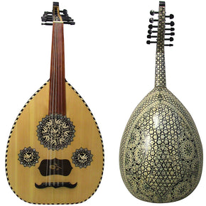 Gawharet El Fan Mother Of Pearl Egyptian Oud Model2  - OMOP1