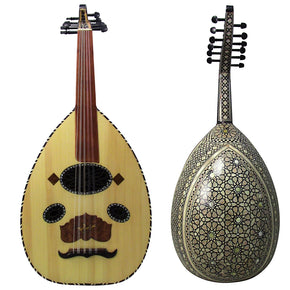 Gawharet El Fan Mother Of Pearl Egyptian Oud Model2  - OMOP2
