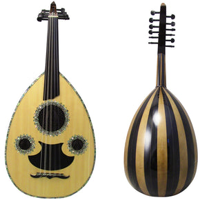 Gawharet El Fan Professional Egyptian Oud Model3 + Extra Set Of Strings  - L3#8 BIRDS