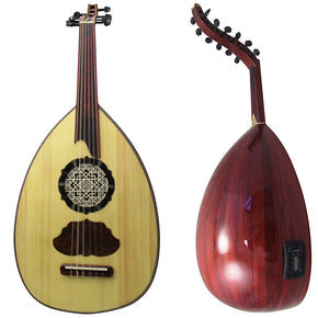 Gawharet El Fan Professional Electric Egyptian Oud  By Famous Maker Morad El Turky + Extra Set Of Strings  - ELE-1