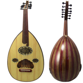 Gawharet El Fan Professional Electric Egyptian Oud  By Famous Maker Morad El Turky + Extra Set Of Strings  - ELE-2