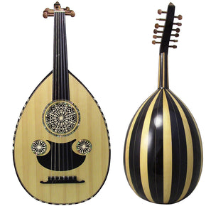 Gawharet El Fan Professional Egyptian Oud Model3+Extra Set Of Strings  - L3#11