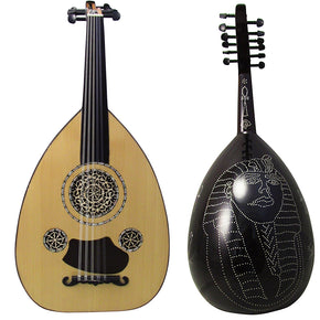 "Gawharet El Fan Professional Egyptian Oud ""Silver Line"" Model3+Extra Set Of Strings - OUDL3S-1"