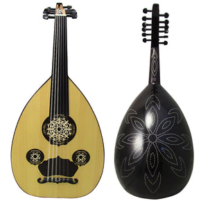 "Gawharet El Fan Professional Egyptian Oud ""The Silver Line"" Model3+Extra Set Of Strings - OUDL3S-2"