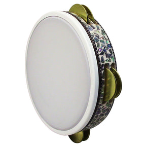 ZAZA percussion - Pro Turkish Tunable Pro Riq Tambourine Mother Of Pearl - Handmade