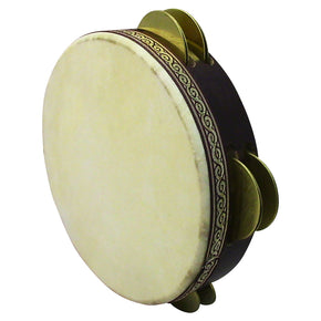 ZAZA percussion - Pro Turkish Goat Skin Riq Wood Tambourine - Handmade